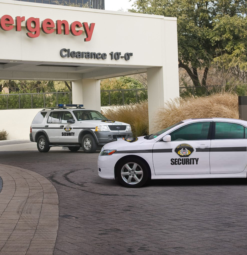 Emergency Entrance With Security Vehicle